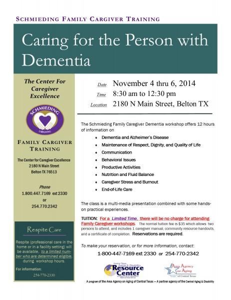Dementia, FREE Nov 2014