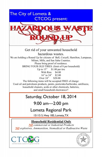 Hazardous Waste Roundup 2014
