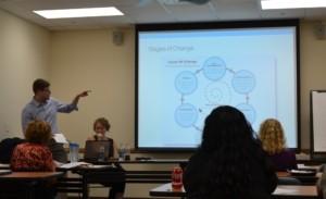 Walter Rosenberg, Rush University Medical Center, leading the training session.