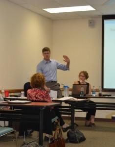 Walter Rosenberg, Rush University Medical Center, answering questions during training.