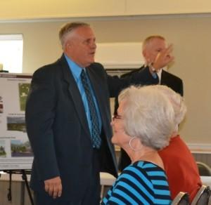 Mayor Skip Blancett addresses meeting.