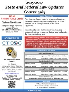 CTCOG Training Flyer 3184