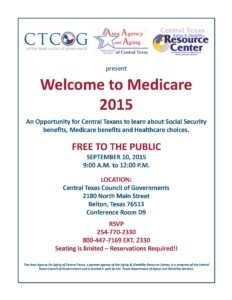 Welcome to Medicare 2015