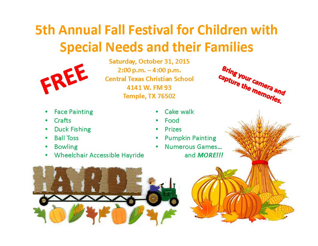 5th Annual Fall Festival For Children With Special Needs And Their