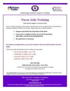 Nurse Aide Training Flyer