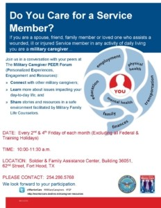 Military Caregiver P2P Flyer-Fort Hood (3)